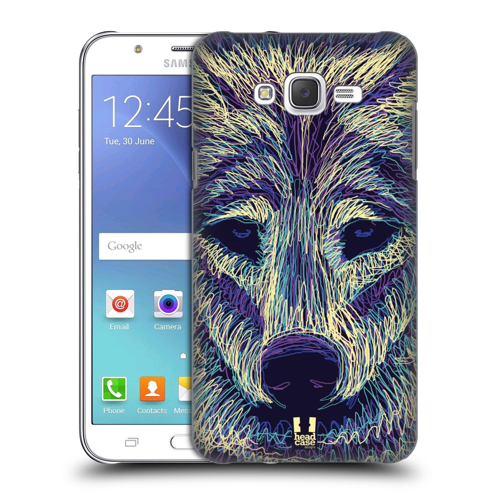HEAD CASE plastový obal na mobil SAMSUNG Galaxy J7, J700 vzor zvíře čmáranice vlk