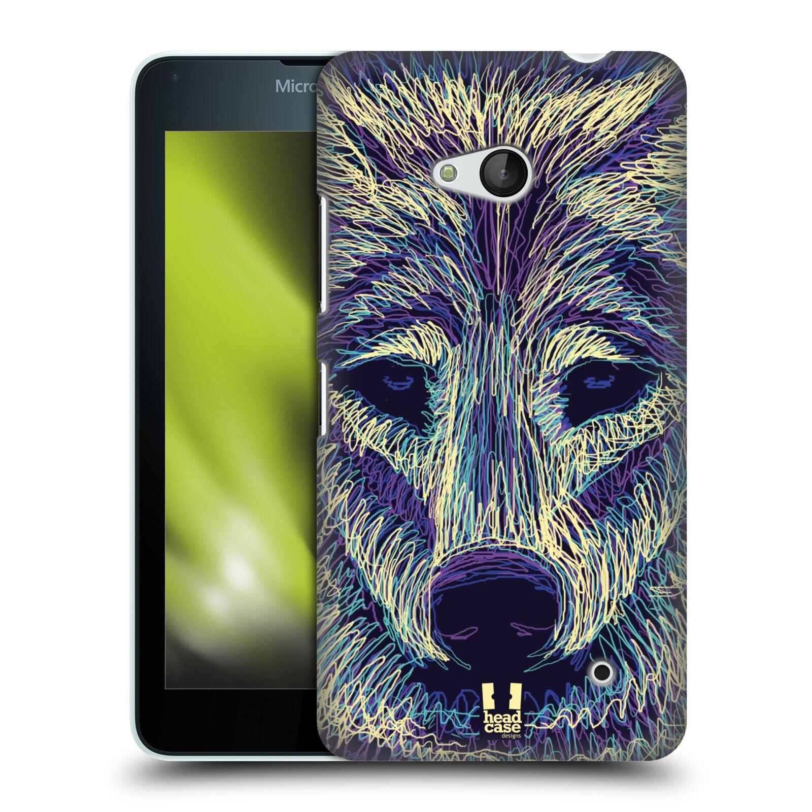 HEAD CASE plastový obal na mobil Nokia Lumia 640 vzor zvíře čmáranice vlk