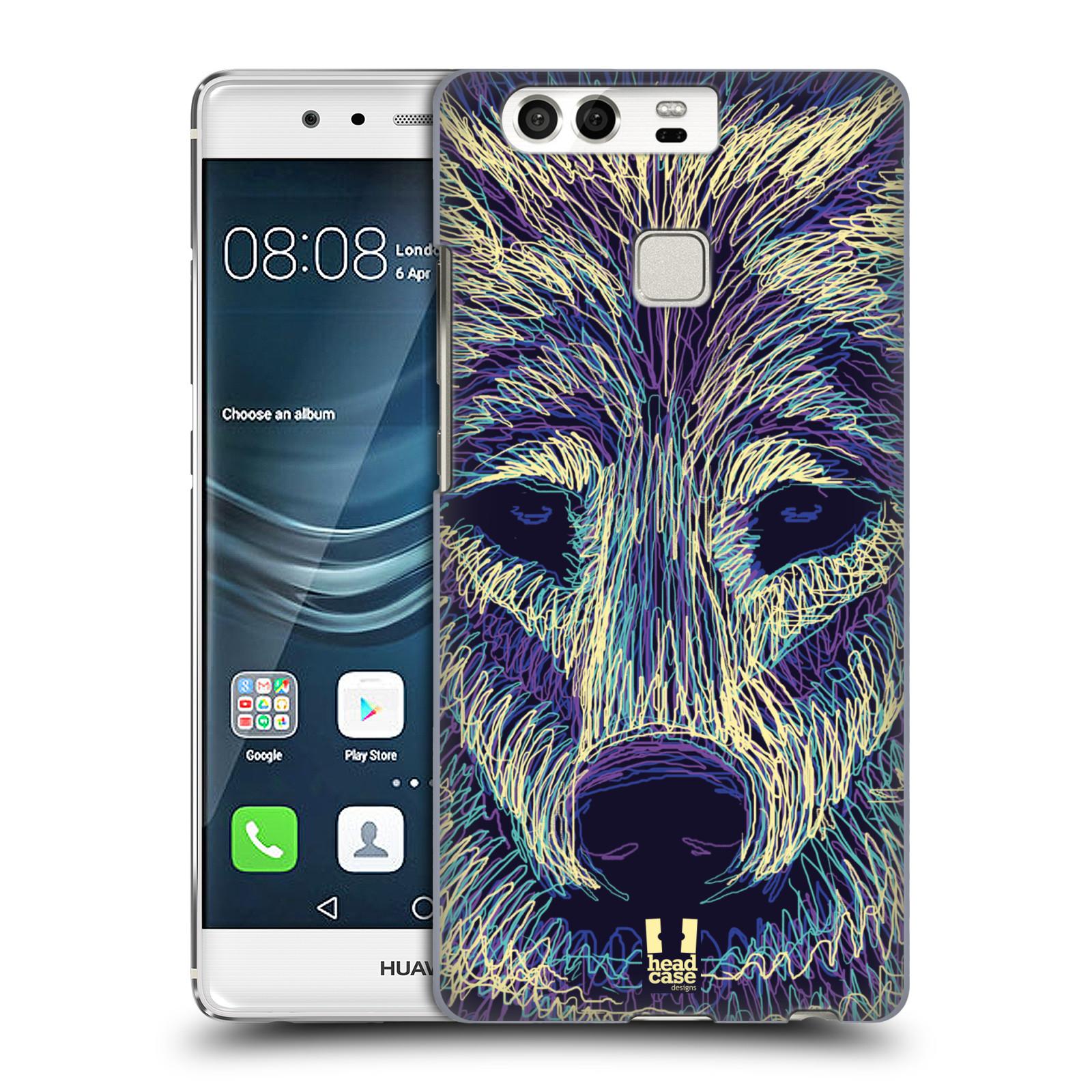 HEAD CASE plastový obal na mobil Huawei P9 / P9 DUAL SIM vzor zvíře čmáranice vlk