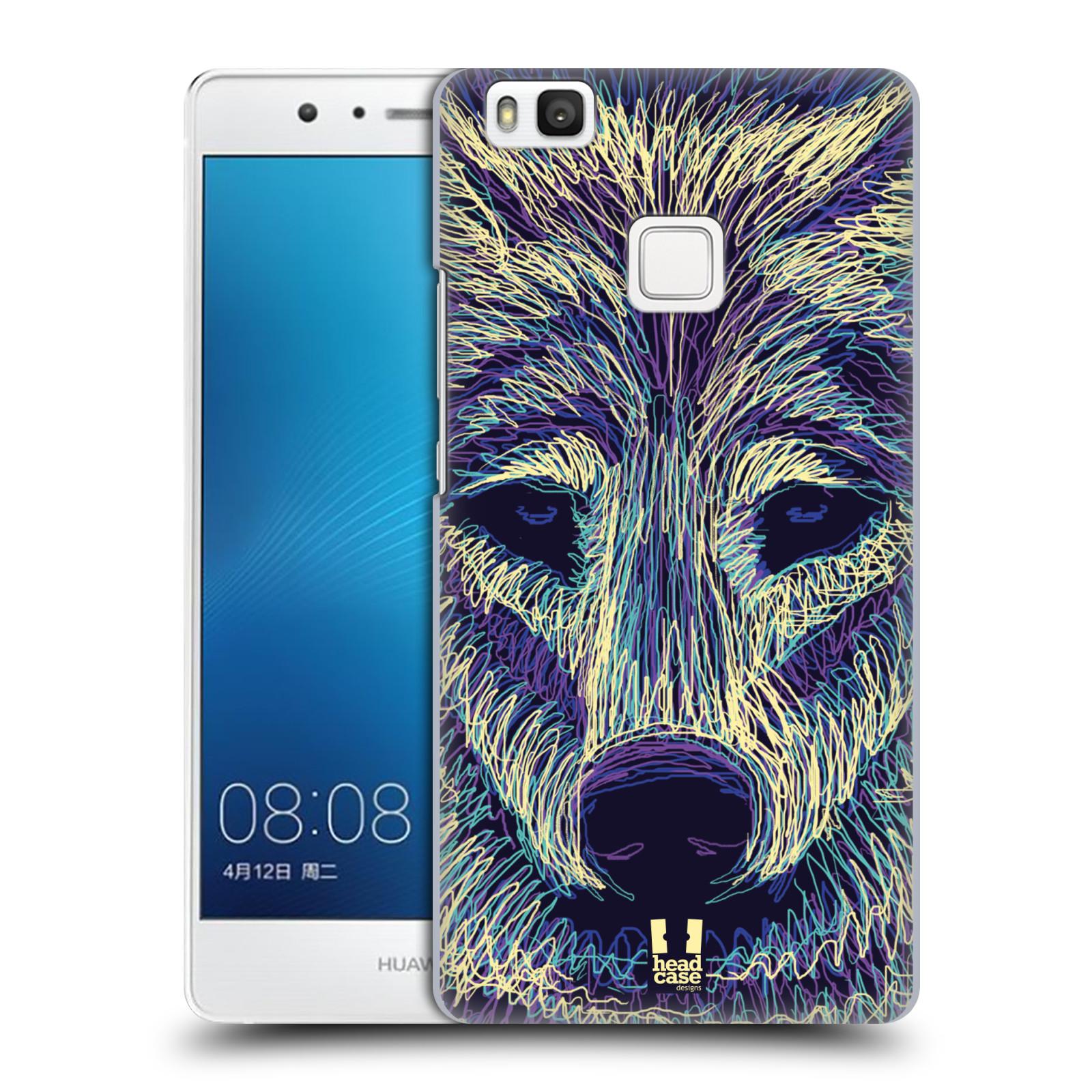 HEAD CASE plastový obal na mobil Huawei P9 LITE / P9 LITE DUAL SIM vzor zvíře čmáranice vlk