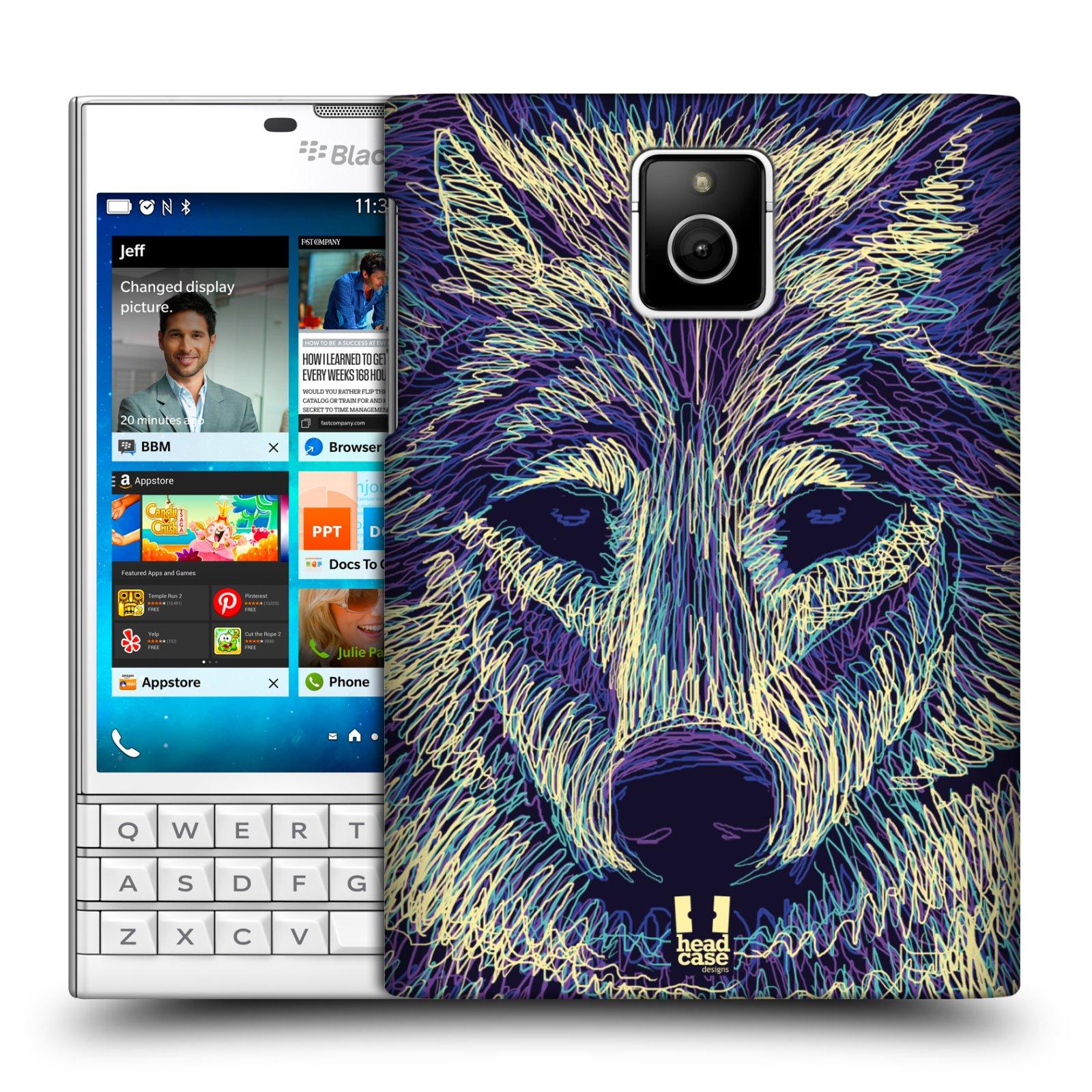 HEAD CASE plastový obal na mobil BlackBerry Passport vzor zvíře čmáranice vlk