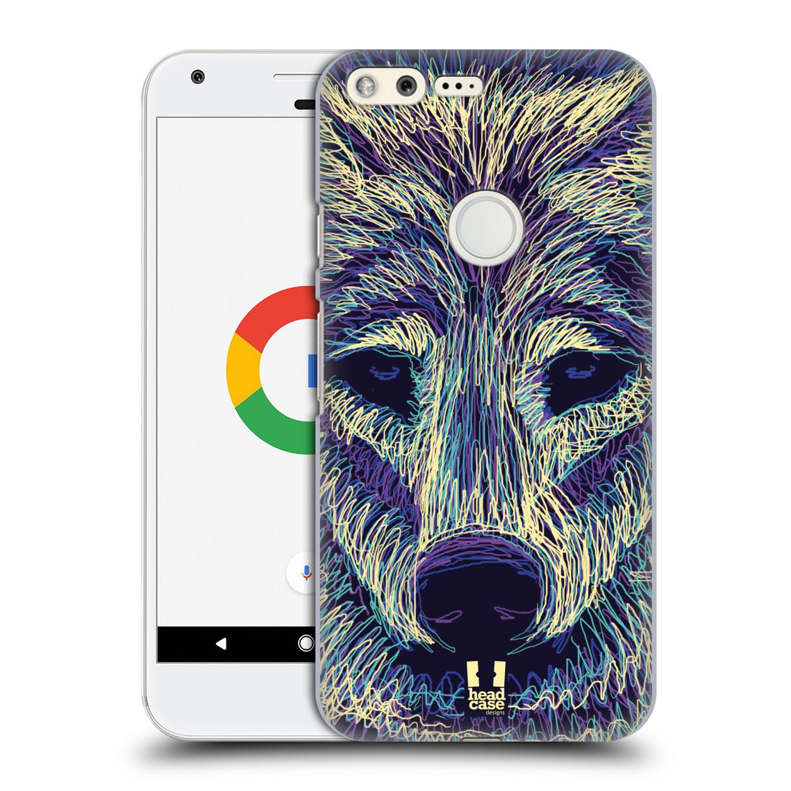 HEAD CASE plastový obal na mobil GOOGLE Pixel vzor zvíře čmáranice vlk