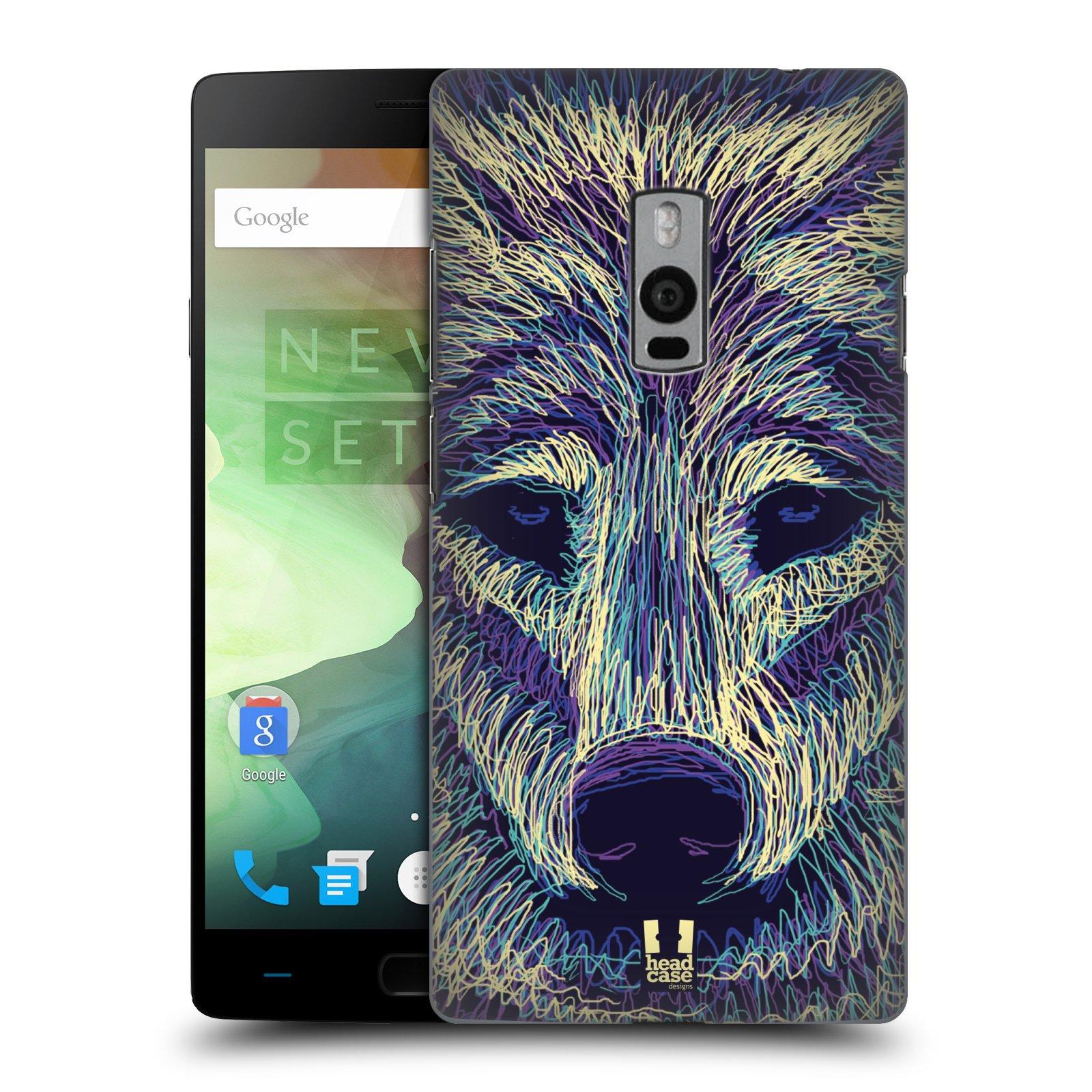 HEAD CASE pevný plastový obal na mobil OnePlus 2  ( TWO ) vzor zvíře čmáranice vlk
