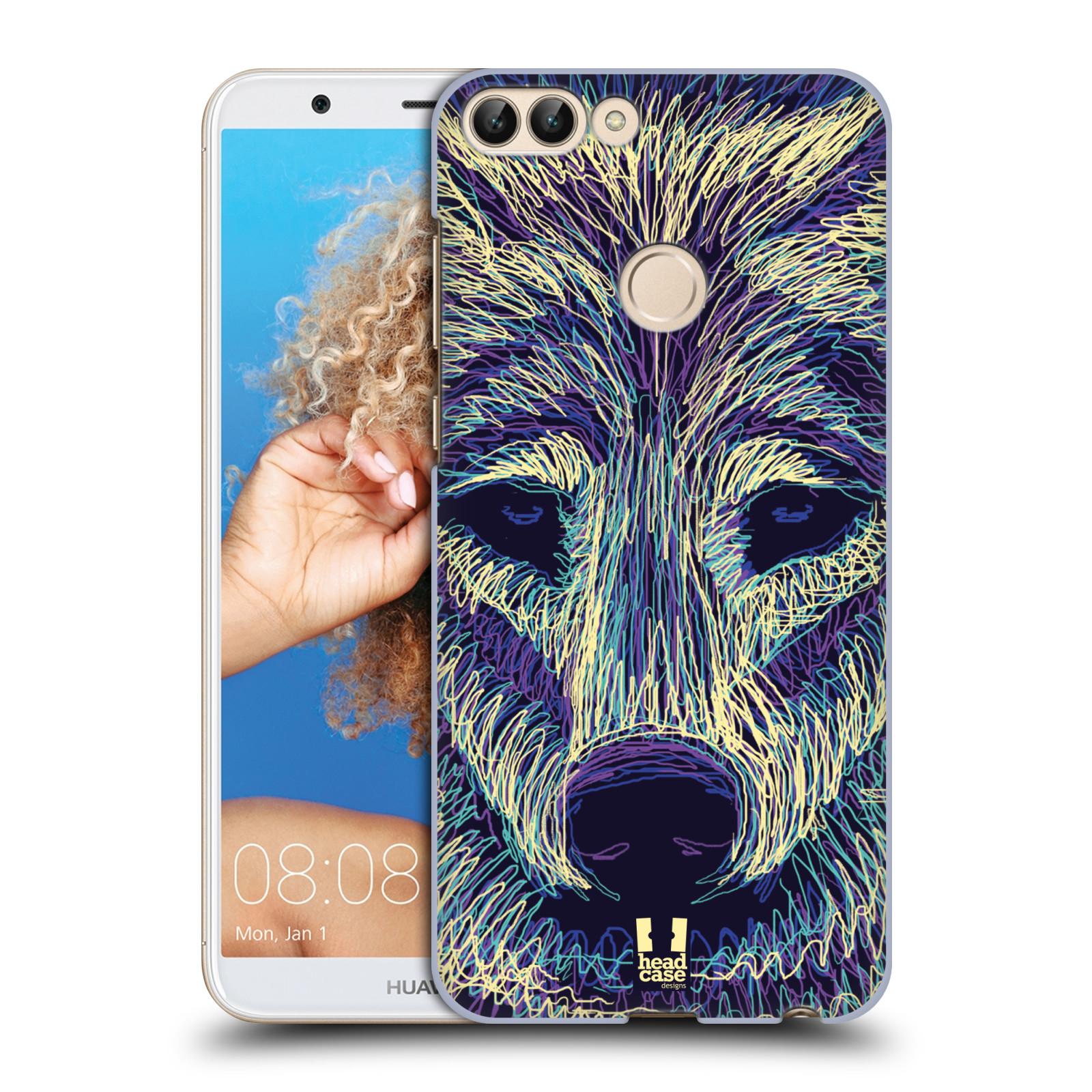 HEAD CASE plastový obal na mobil Huawei P Smart vzor zvíře čmáranice vlk