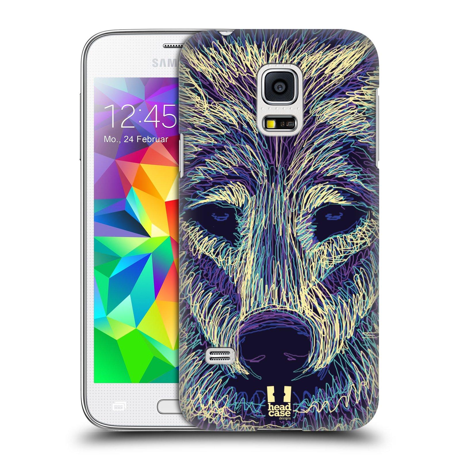 HEAD CASE plastový obal na mobil SAMSUNG Galaxy S5 MINI / S5 MINI DUOS vzor zvíře čmáranice vlk