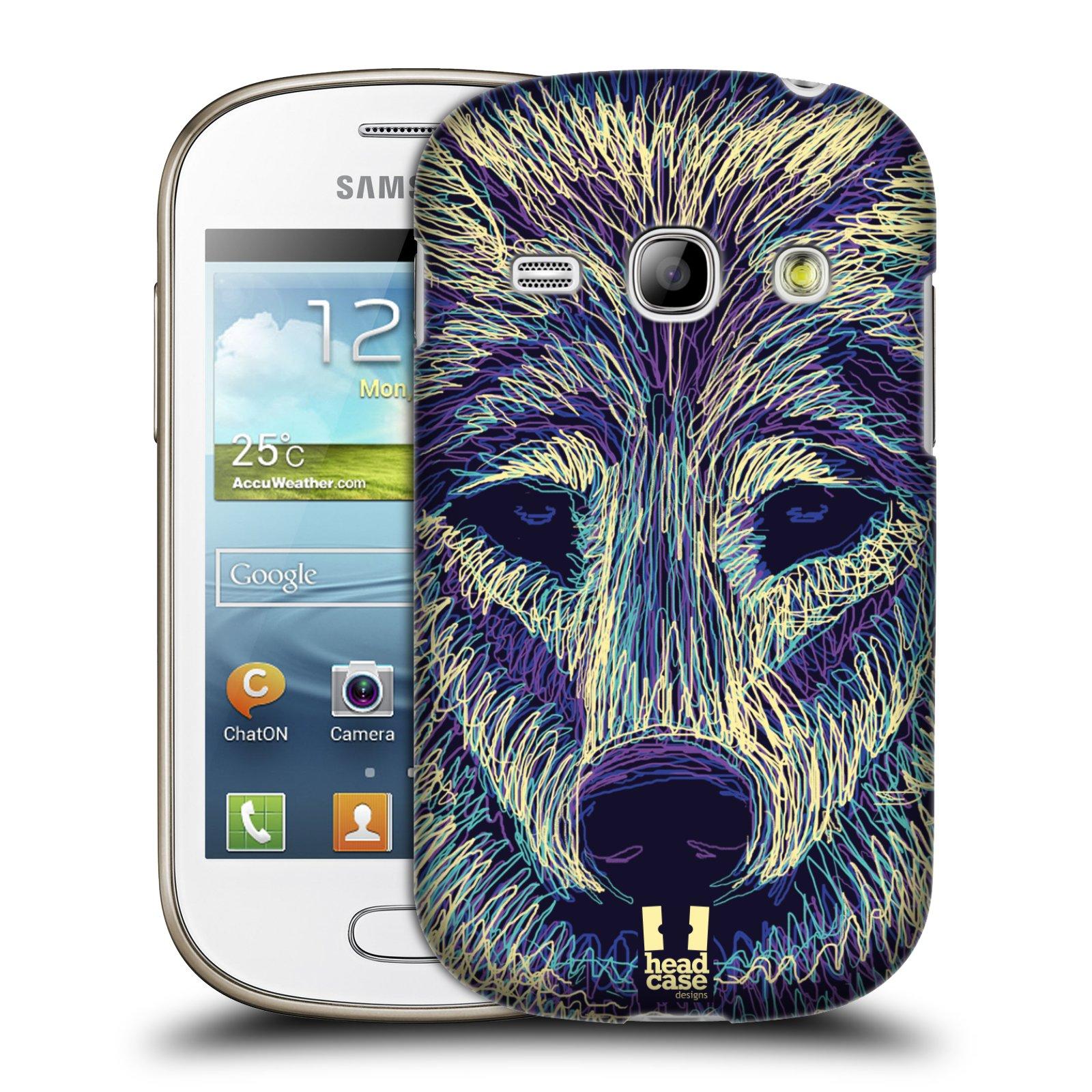 HEAD CASE plastový obal na mobil SAMSUNG GALAXY FAME (S6810) vzor zvíře čmáranice vlk