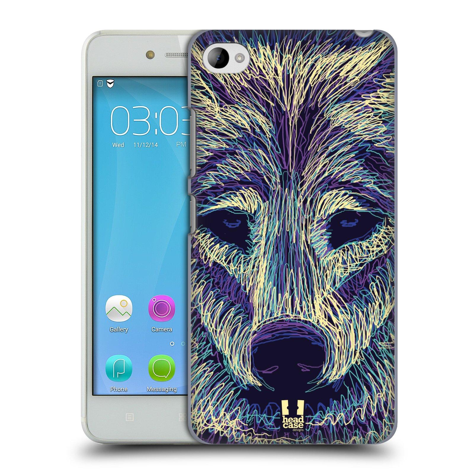HEAD CASE pevný plastový obal na mobil LENOVO S90 vzor zvíře čmáranice vlk