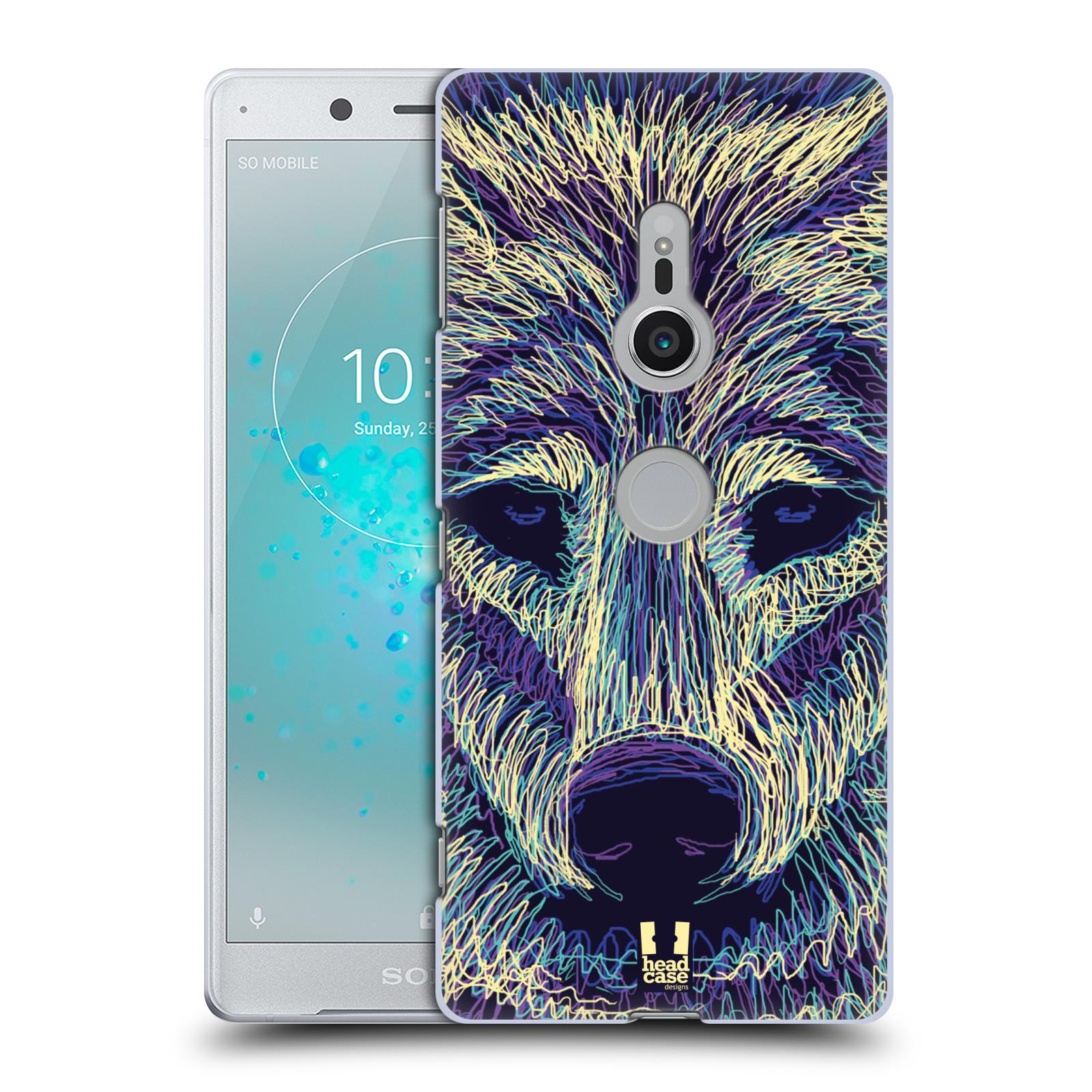 HEAD CASE plastový obal na mobil Sony Xperia XZ2 vzor zvíře čmáranice vlk