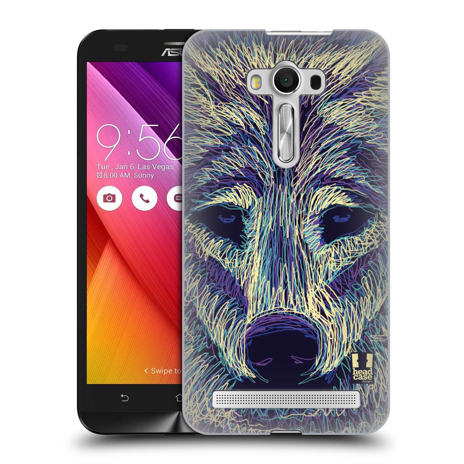 HEAD CASE plastový obal na mobil Asus Zenfone 2 LASER (5,5 displej ZE550KL) vzor zvíře čmáranice vlk
