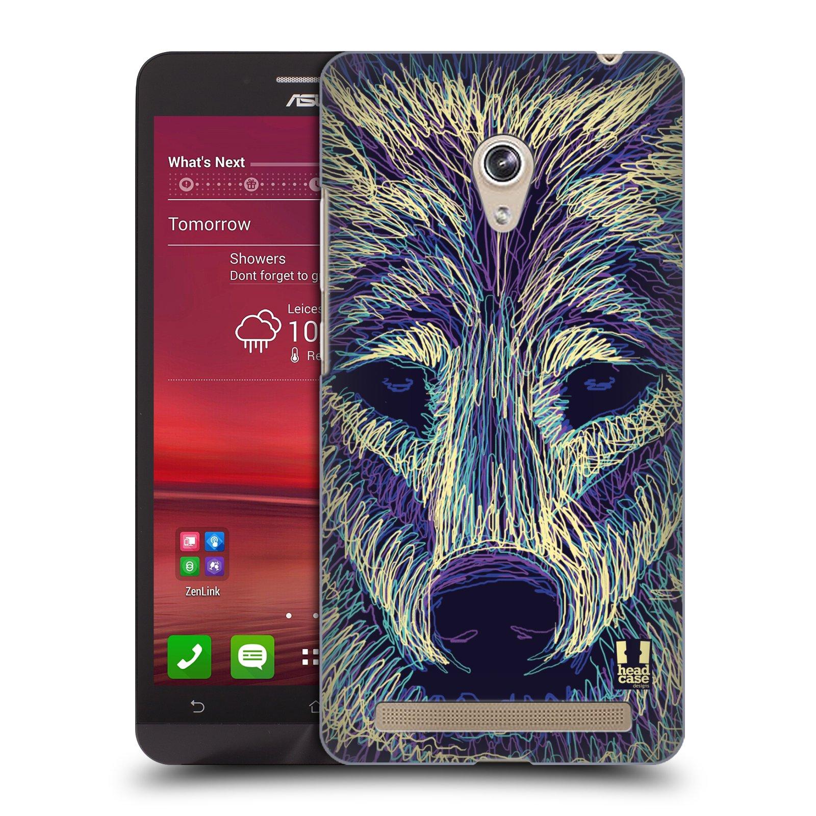HEAD CASE plastový obal na mobil Asus Zenfone 6 vzor zvíře čmáranice vlk