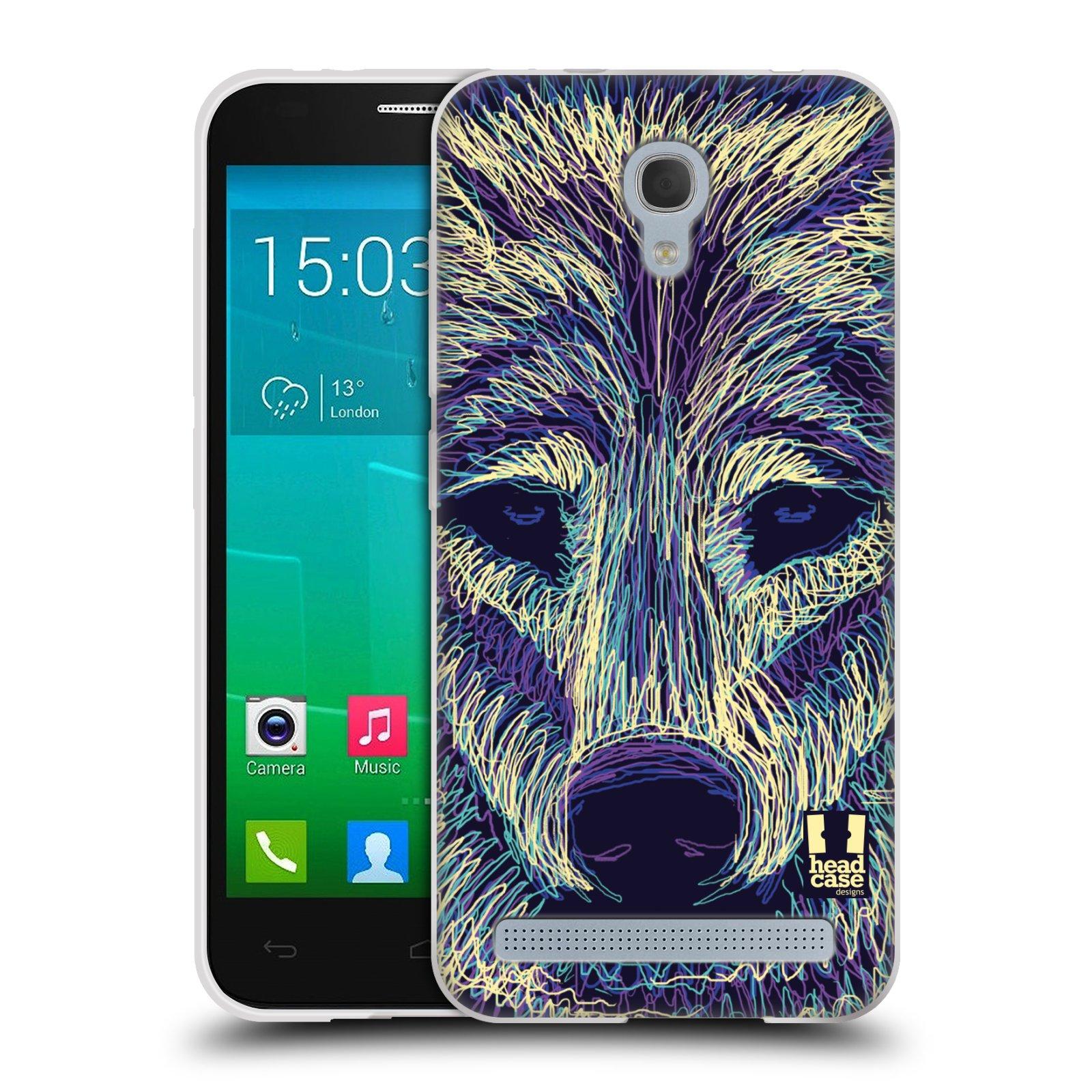 HEAD CASE silikonový obal na mobil Alcatel Idol 2 MINI S 6036Y vzor zvíře čmáranice vlk