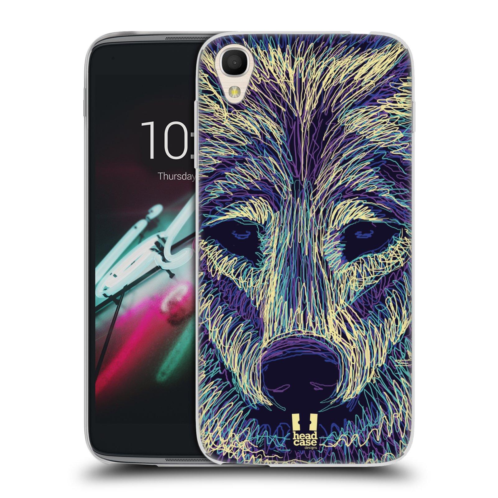 HEAD CASE silikonový obal na mobil Alcatel Idol 3 OT-6039Y (4.7) vzor zvíře čmáranice vlk