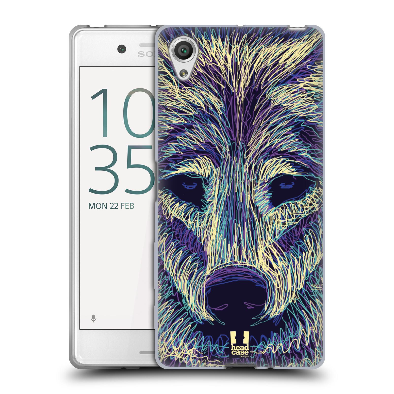 HEAD CASE silikonový obal na mobil Sony Xperia X / X DUAL vzor zvíře čmáranice vlk