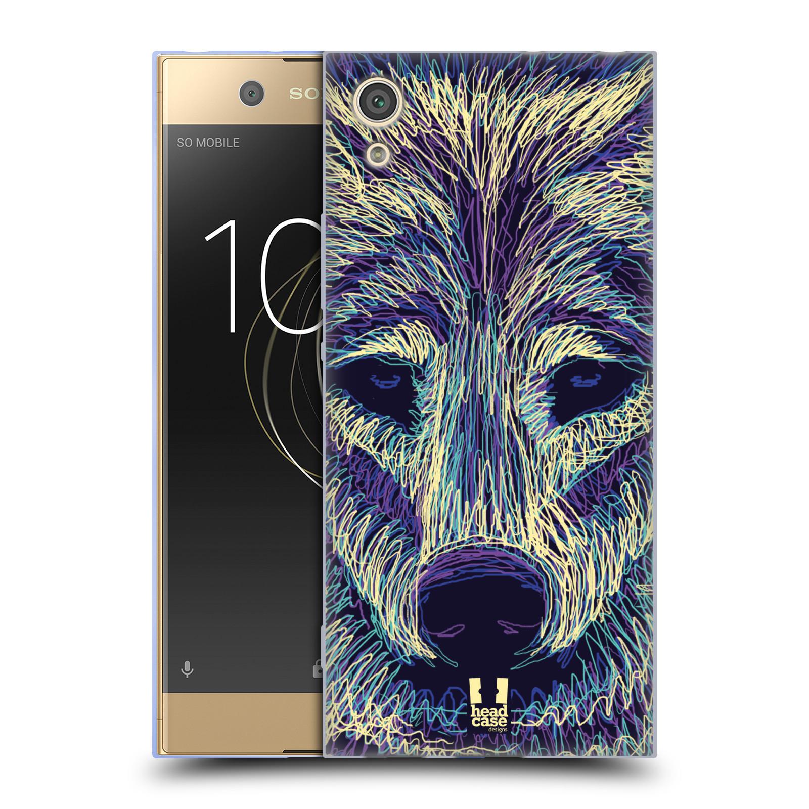 HEAD CASE silikonový obal na mobil Sony Xperia XA1 / XA1 DUAL SIM vzor zvíře čmáranice vlk
