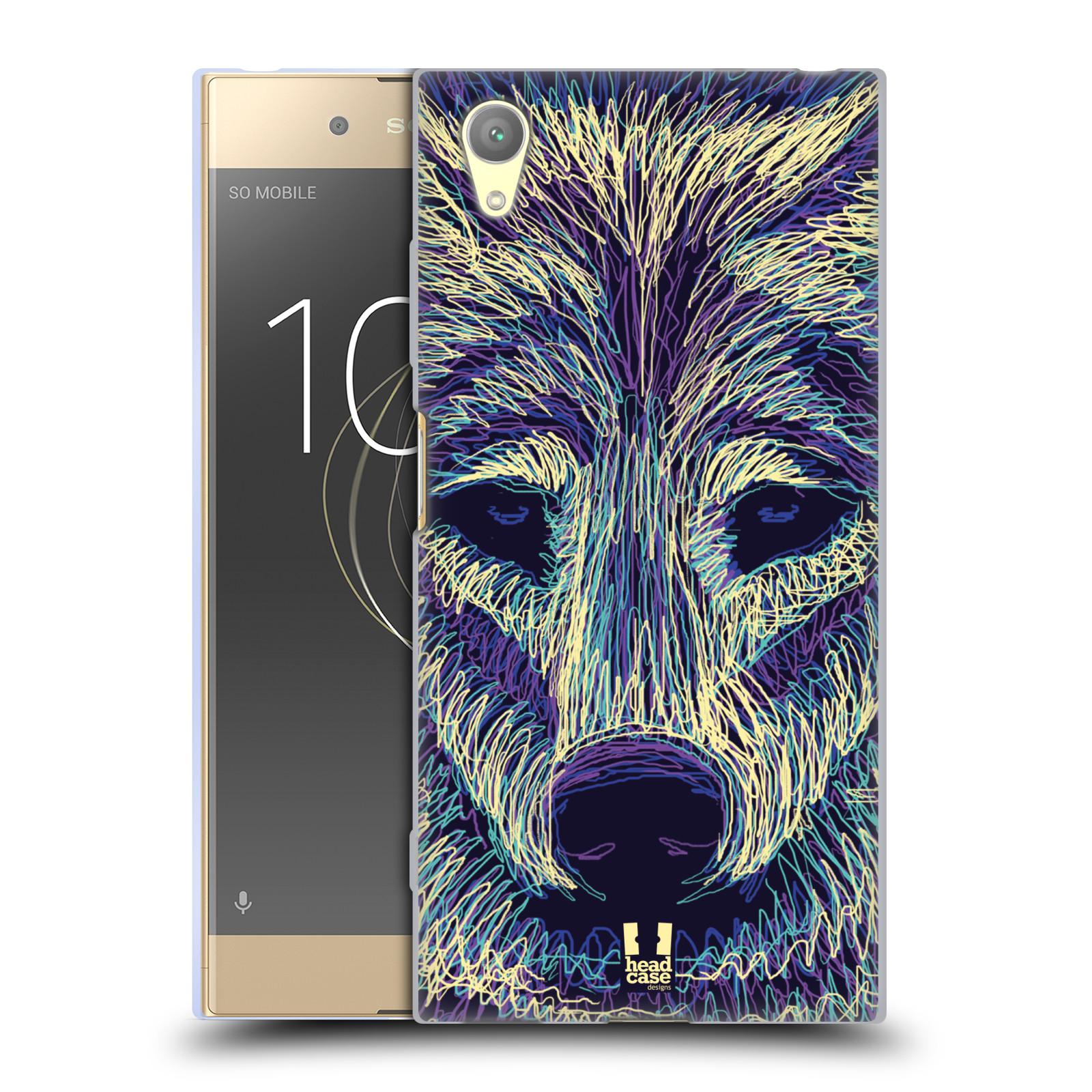 HEAD CASE silikonový obal na mobil Sony Xperia XA1 PLUS vzor zvíře čmáranice vlk