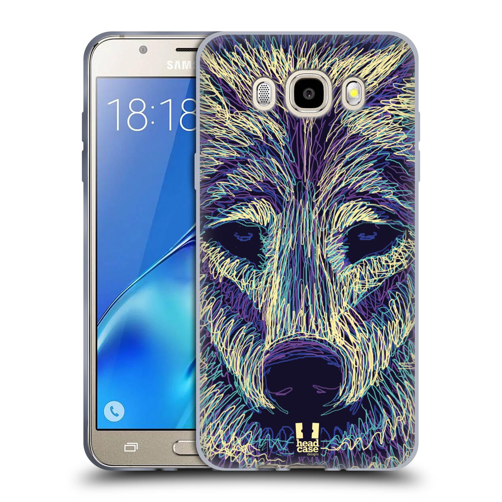HEAD CASE silikonový obal, kryt na mobil Samsung Galaxy J5 2016, J510, J510F, (J510F DUAL SIM) vzor zvíře čmáranice vlk