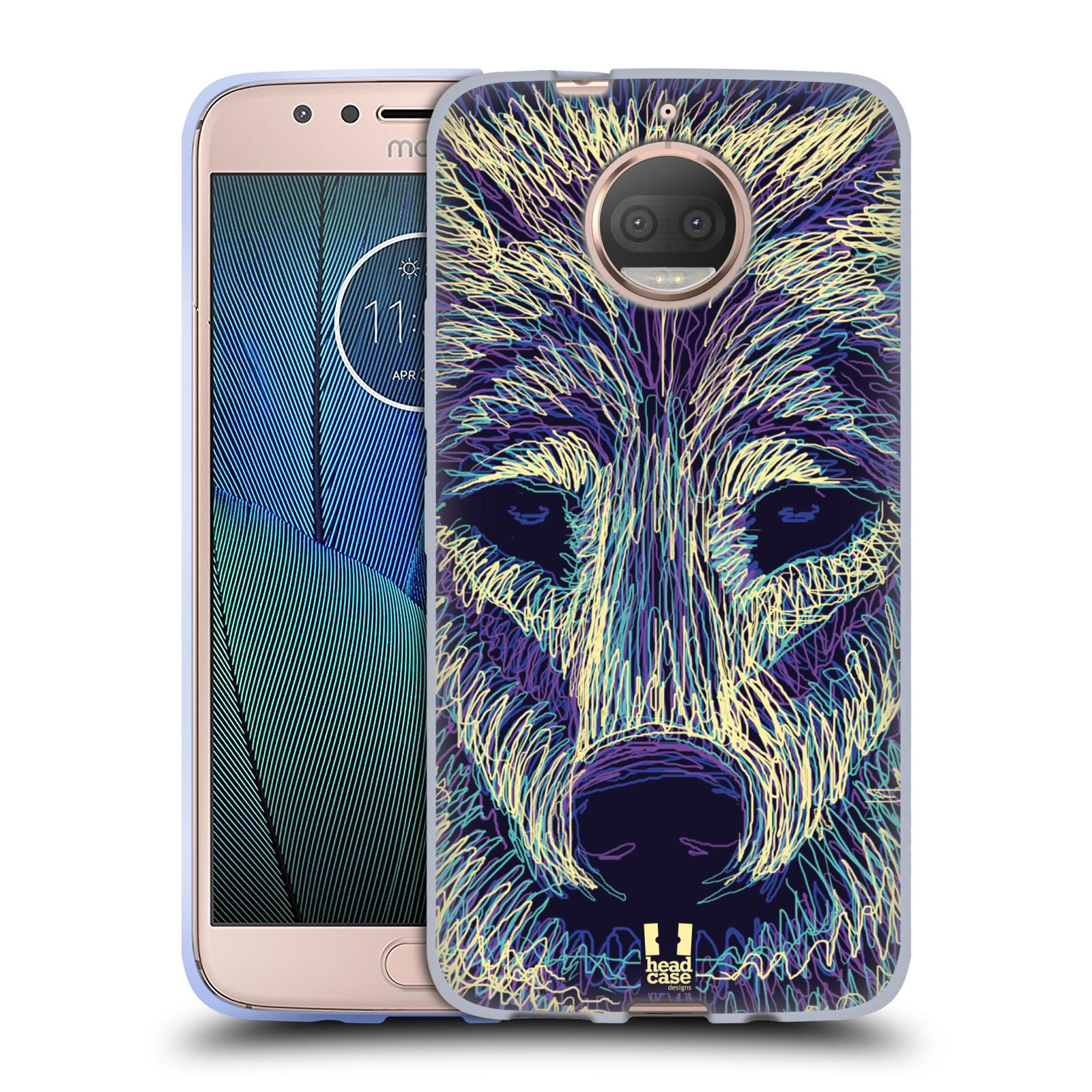 HEAD CASE silikonový obal na mobil Lenovo Moto G5s PLUS vzor zvíře čmáranice vlk