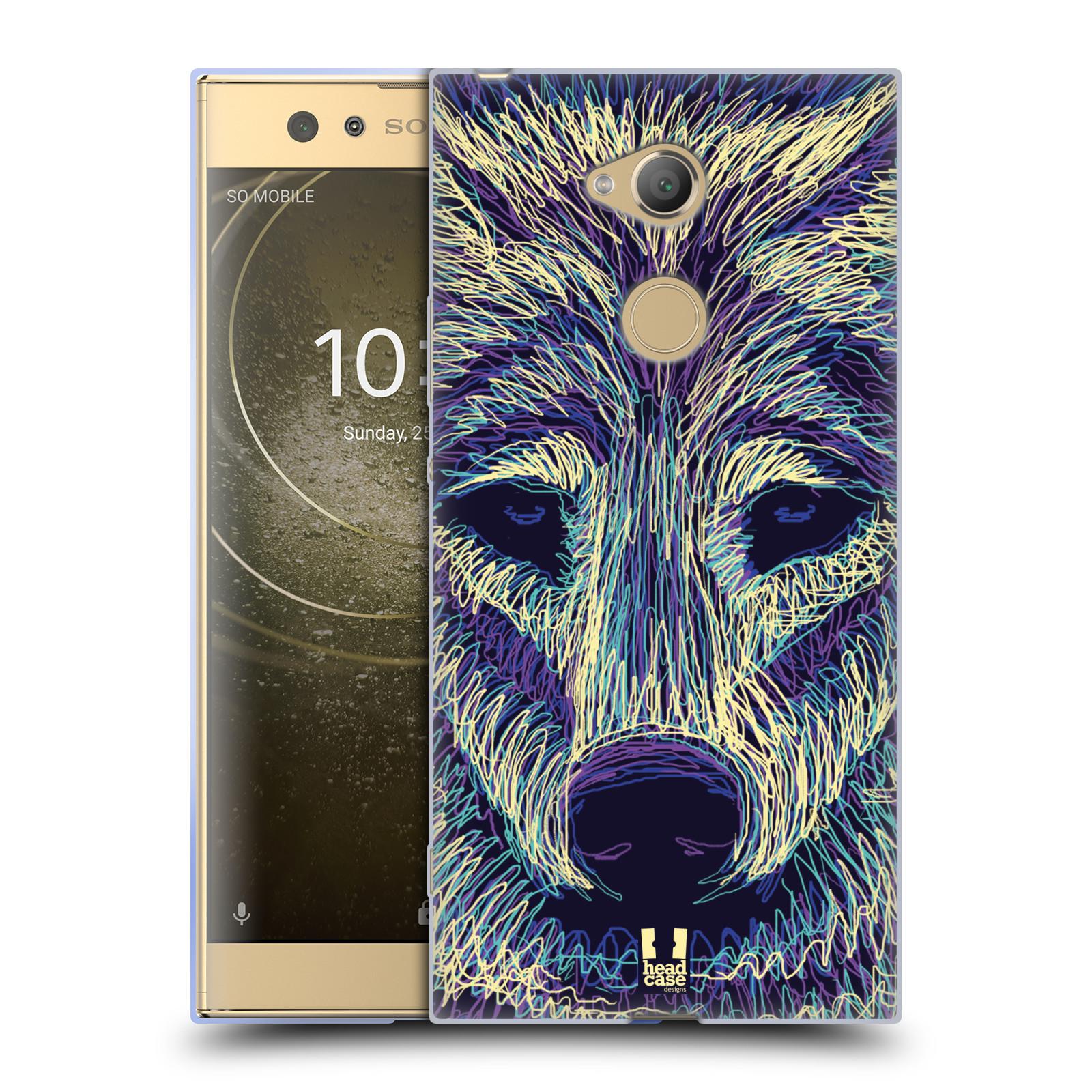Pouzdro na mobil Sony Xperia XA2 Ultra vzor zvíře čmáranice vlk