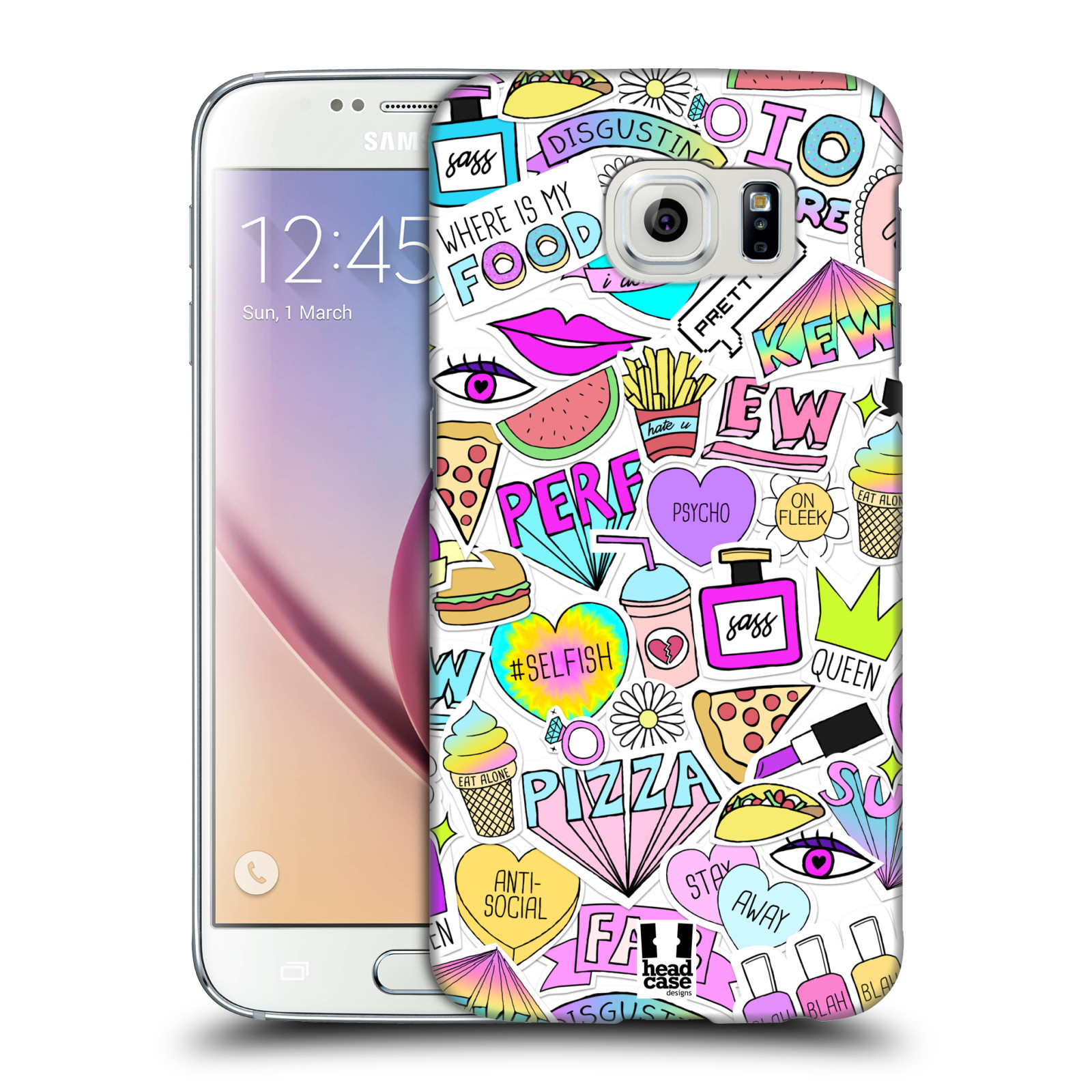 HEAD CASE DESIGNS SASSY STICKERS HARD BACK CASE FOR SAMSUNG PHONES 1