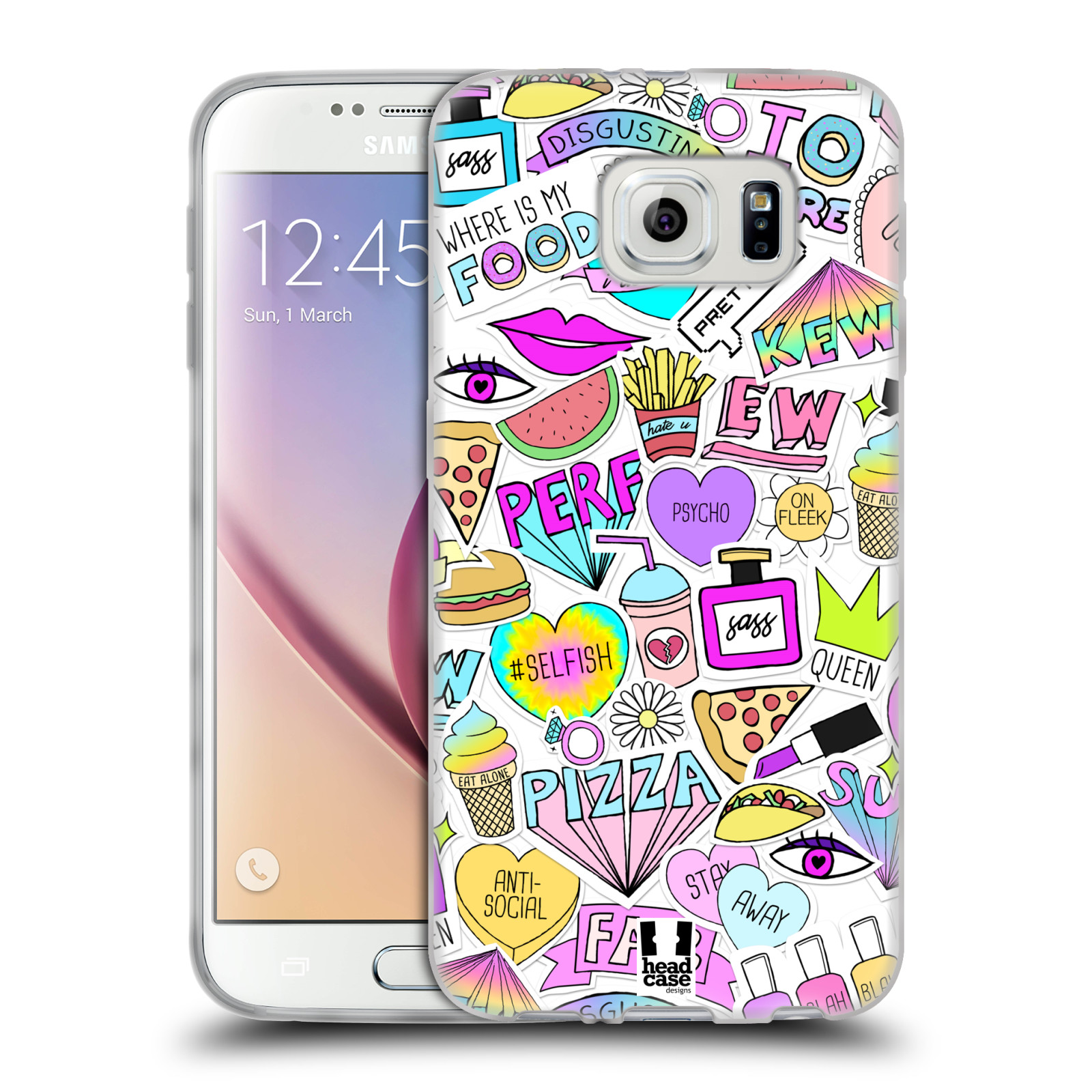 HEAD CASE DESIGNS SASSY STICKERS SOFT GEL CASE FOR SAMSUNG PHONES 1