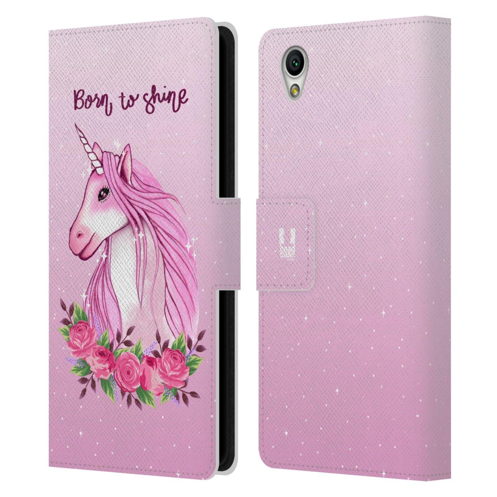 Pouzdro na mobil Sony Xperia L1 - Head Case - Růžový jednorožec růže
