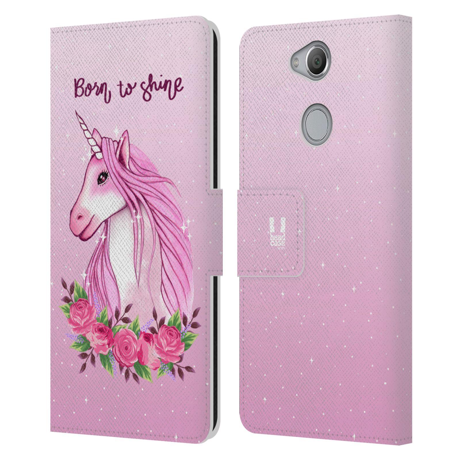 Pouzdro na mobil Sony Xperia XA2 - Head Case - Růžový jednorožec růže