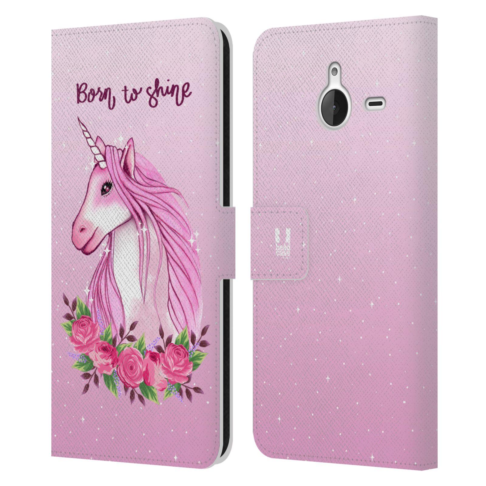 Pouzdro na mobil Nokia Lumia 640 XL - Head Case - Růžový jednorožec růže