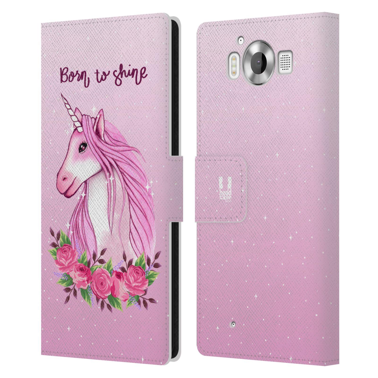 Pouzdro na mobil Nokia Lumia 950 - Head Case - Růžový jednorožec růže