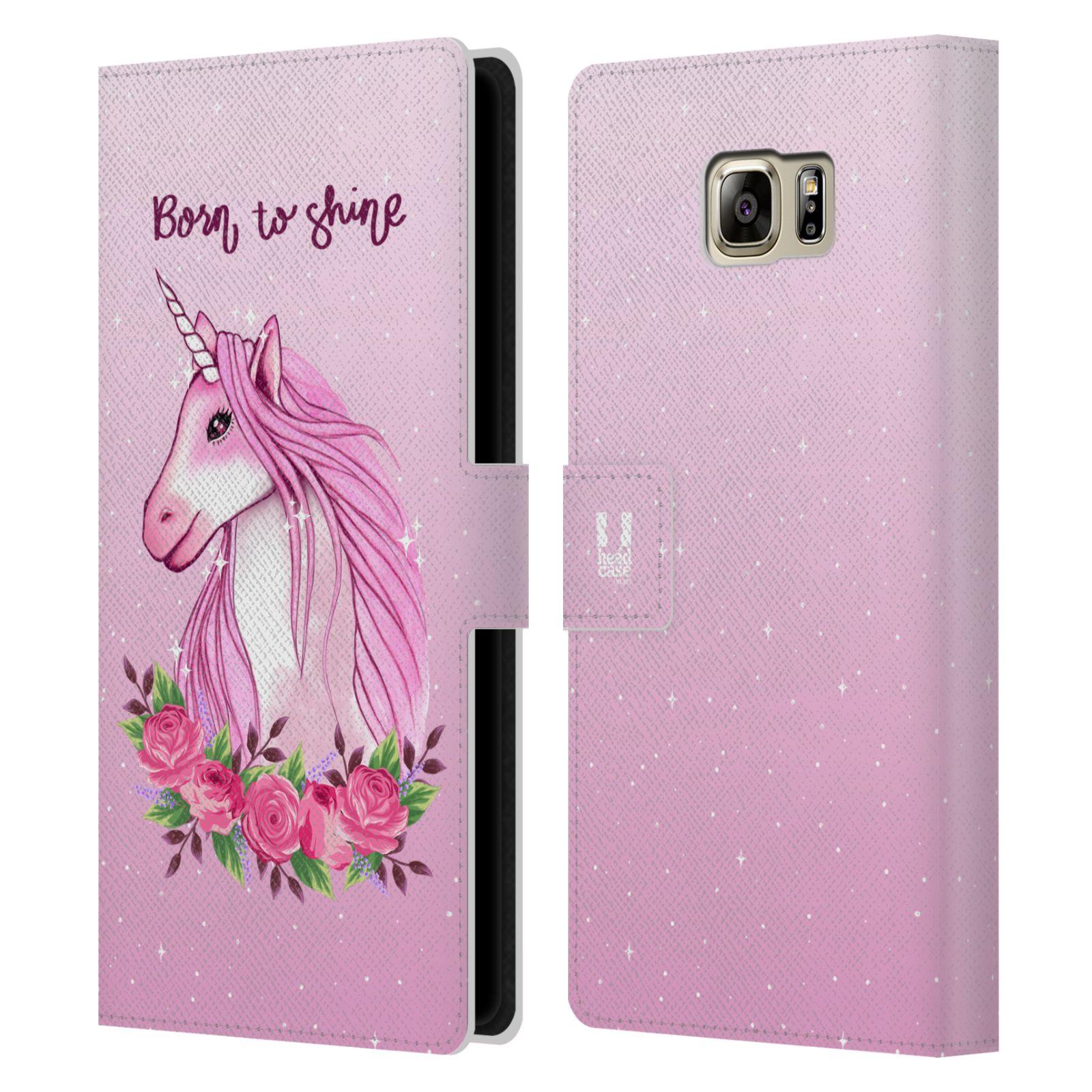 Pouzdro na mobil Samsung Galaxy NOTE 5 - Head Case - Růžový jednorožec růže