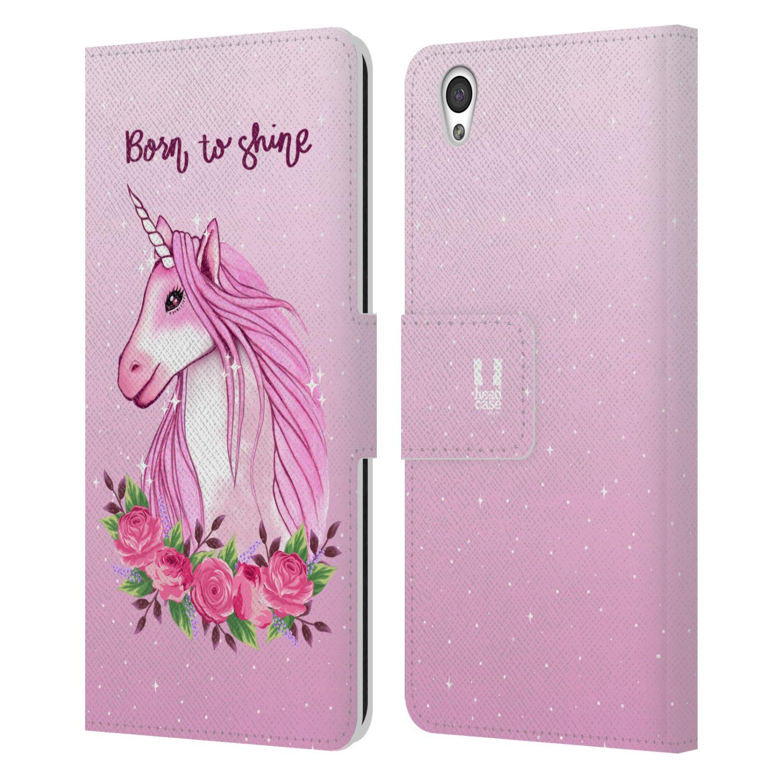 Pouzdro na mobil OnePlus X - Head Case - Růžový jednorožec růže