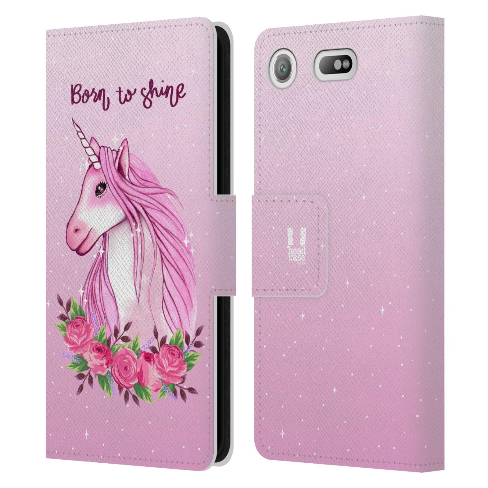 Pouzdro na mobil Sony Xperia XZ1 Compact - Head Case - Růžový jednorožec růže