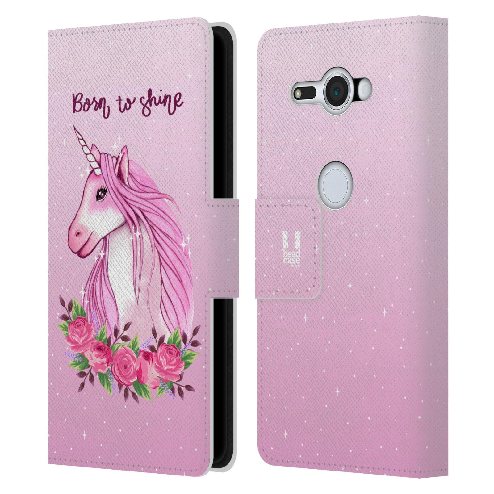 Pouzdro na mobil Sony Xperia XZ2 Compact - Head Case - Růžový jednorožec růže