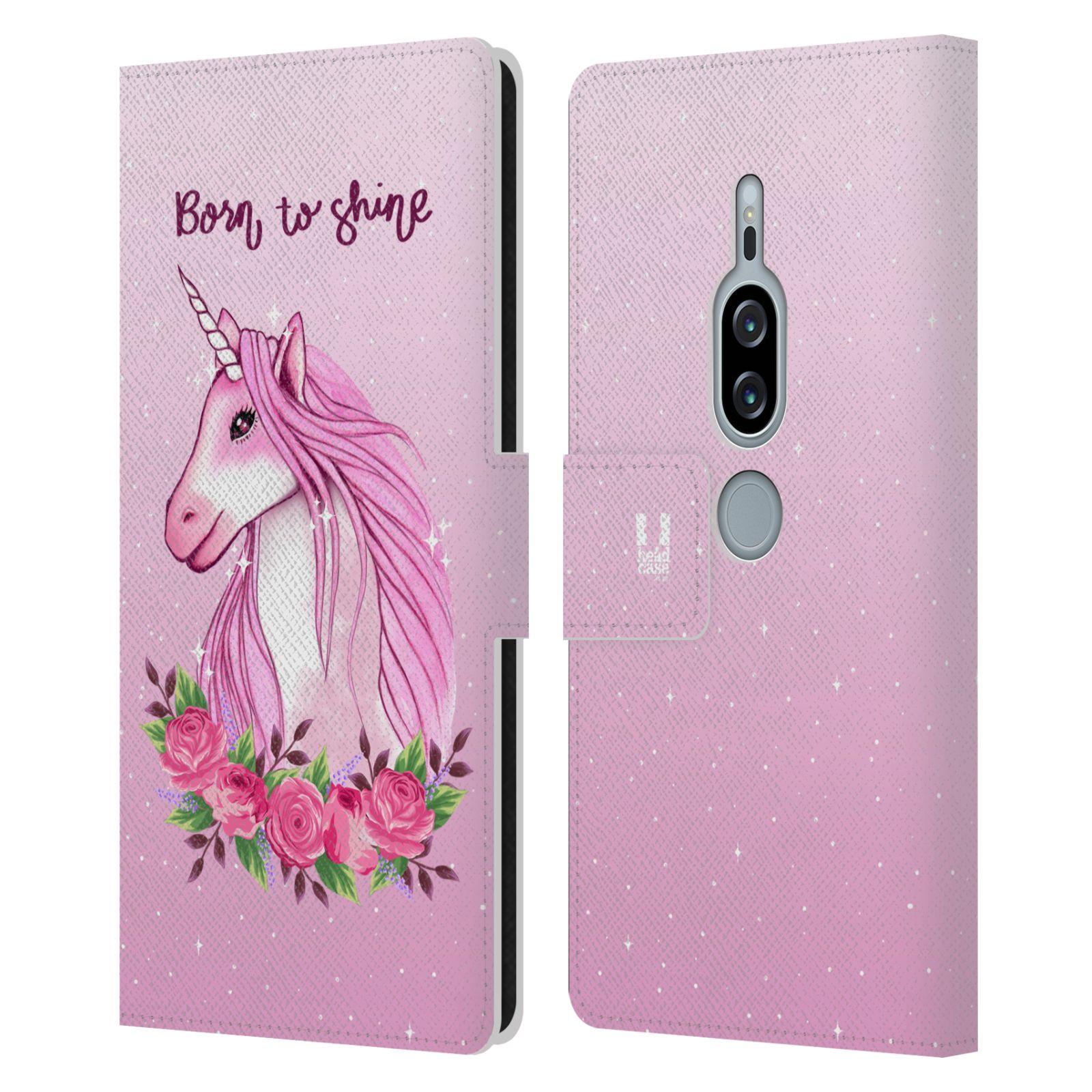 Pouzdro na mobil Sony Xperia XZ2 Premium - Head Case - Růžový jednorožec růže