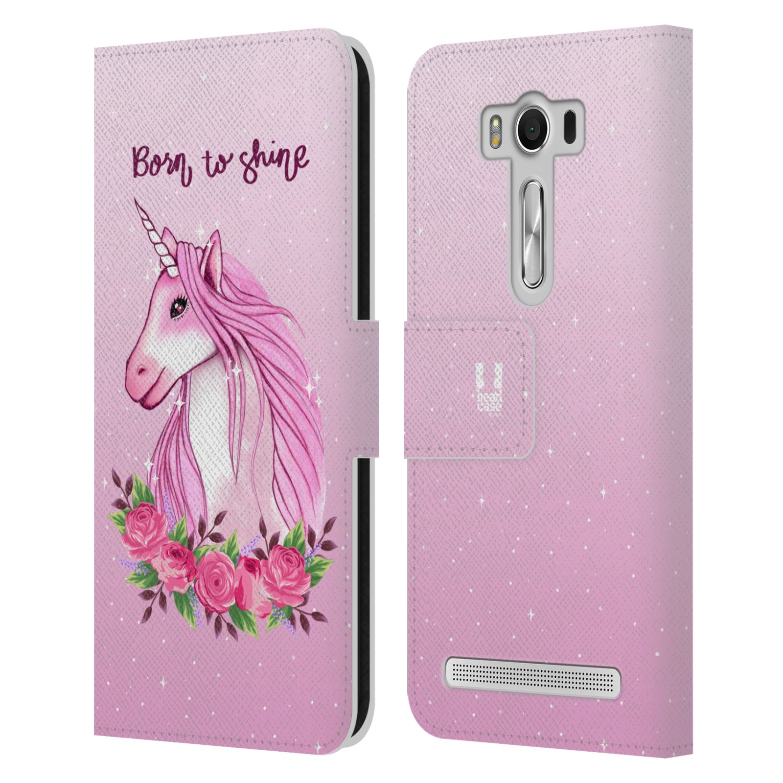 Pouzdro na mobil Asus Zenfone 2 Laser ZE500KL - Head Case - Růžový jednorožec růže
