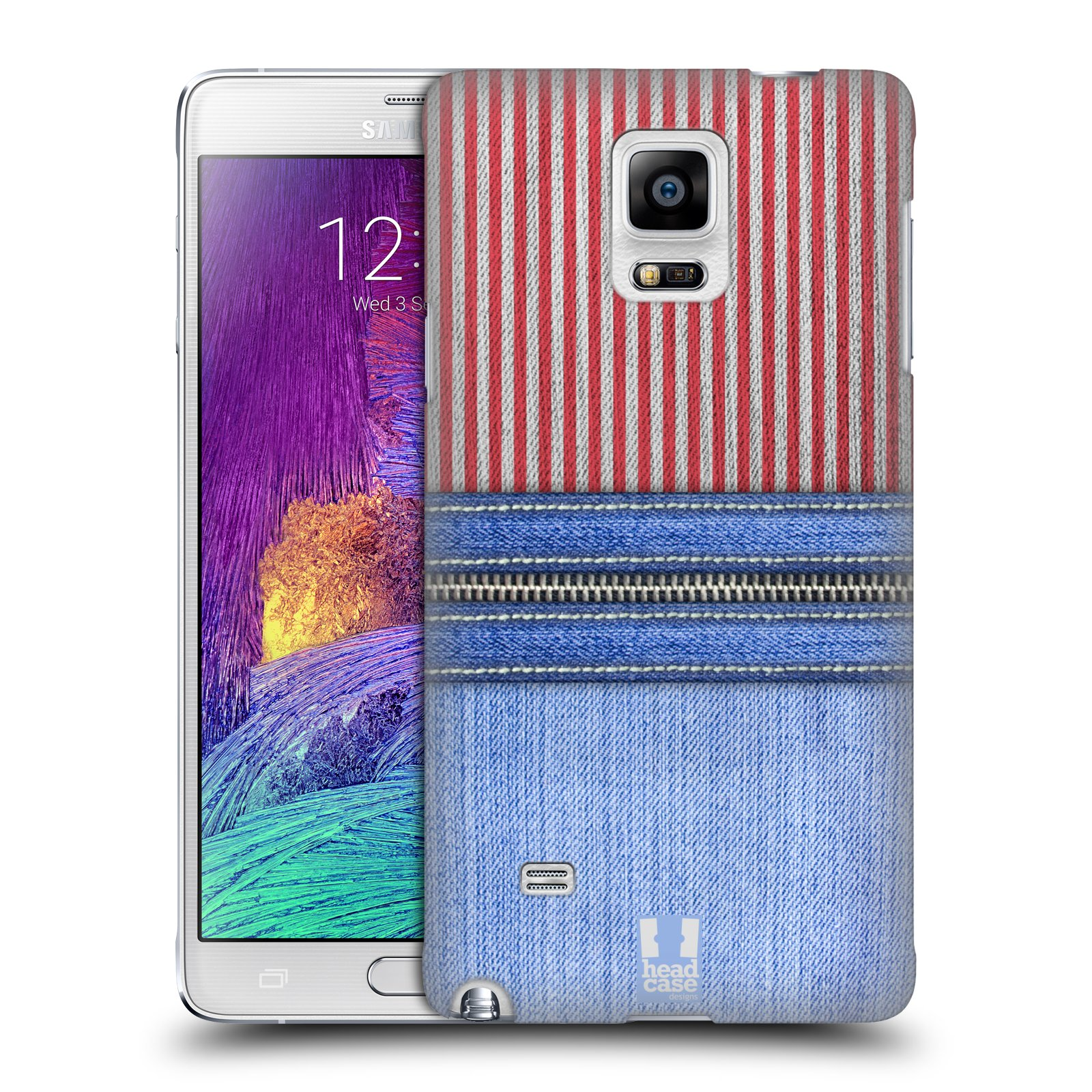 HEAD CASE STRIPED DENIMS SNAP-ON BACK COVER FOR SAMSUNG GALAXY NOTE 4