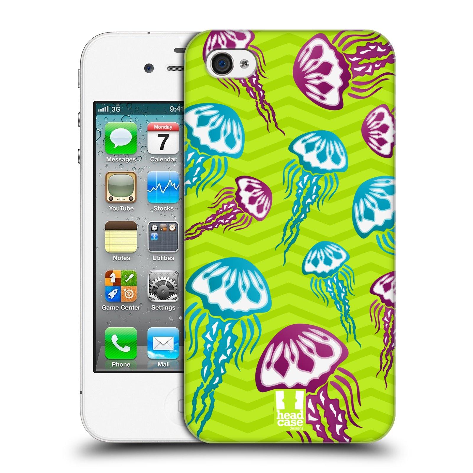 HEAD CASE plastový obal na mobil Apple Iphone 4/4S vzor mořský živočich medůza