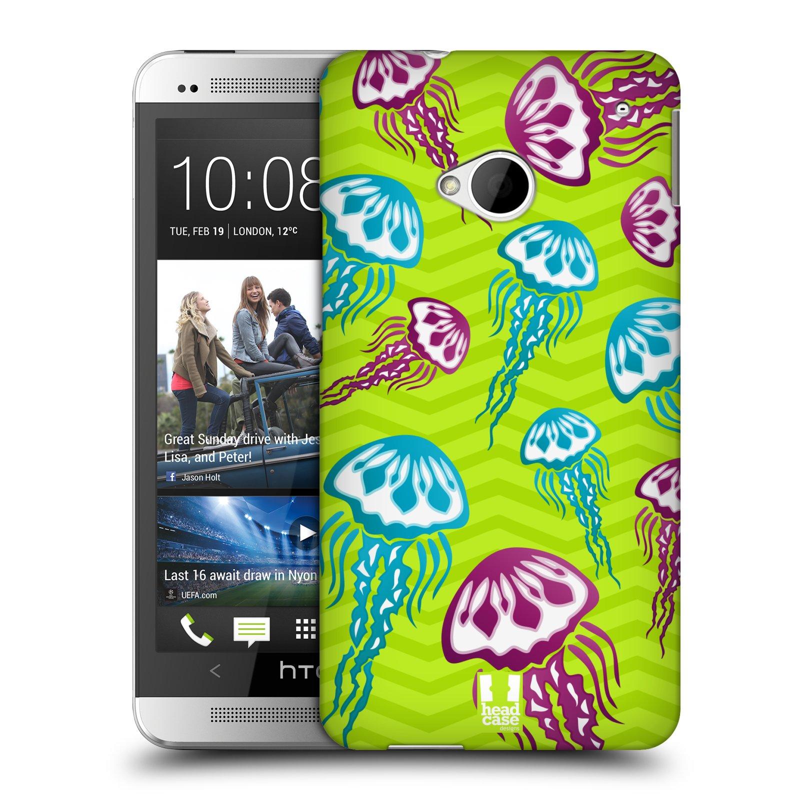 HEAD CASE plastový obal na mobil HTC One (M7) vzor mořský živočich medůza