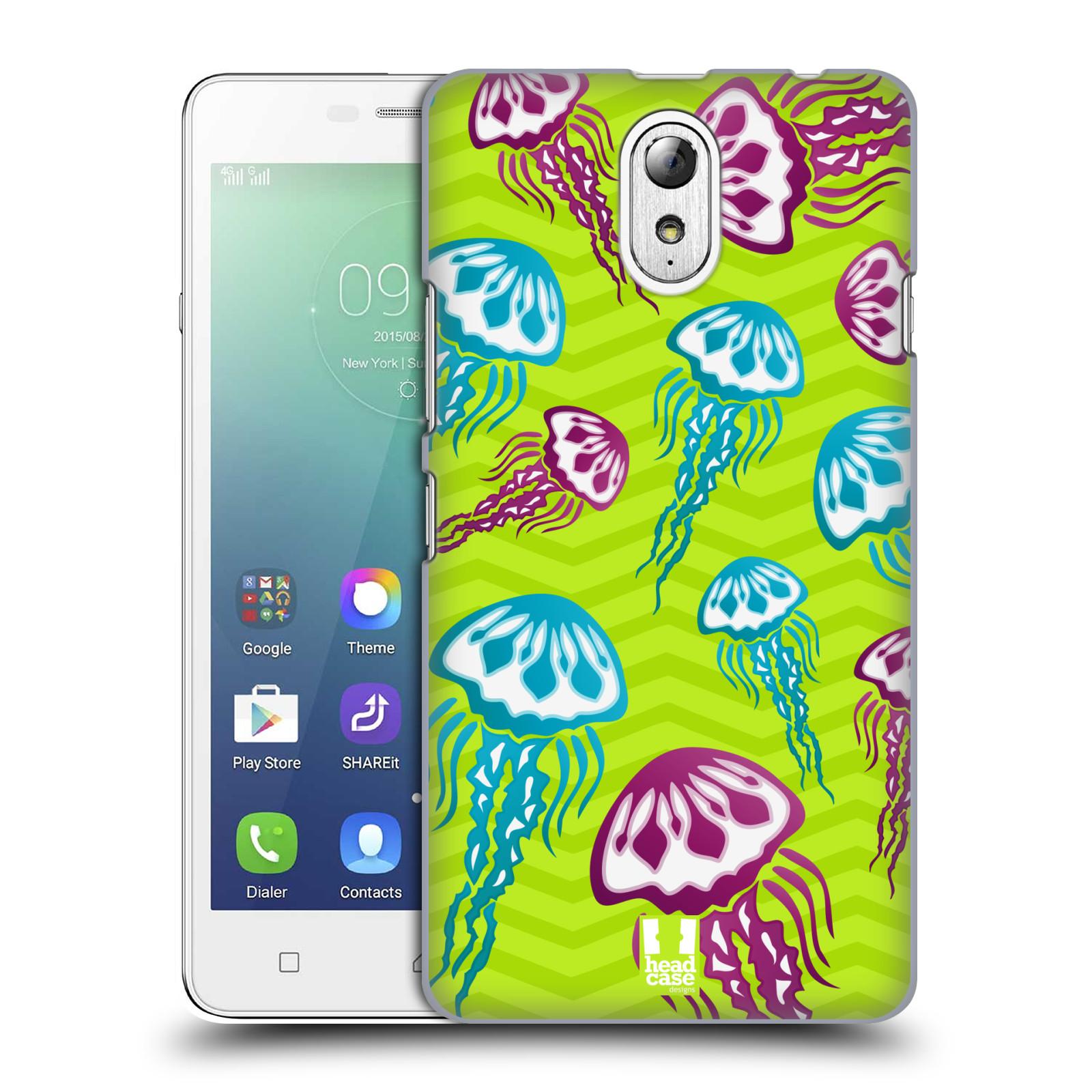 HEAD CASE pevný plastový obal na mobil LENOVO VIBE P1m / LENOVO VIBE p1m DUAL SIM vzor mořský živočich medůza