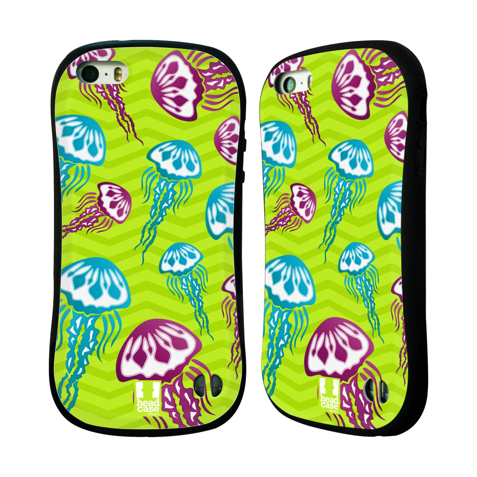HEAD CASE silikon/plast odolný obal na mobil Apple Iphone 5/5S vzor mořský živočich medůza