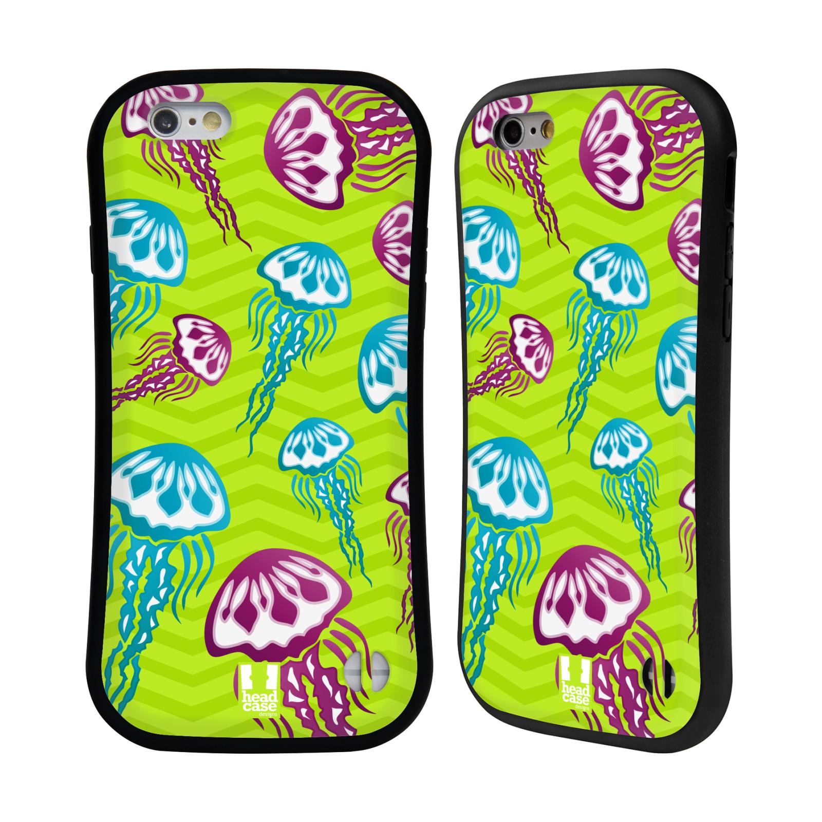 HEAD CASE silikon/plast odolný obal na mobil Apple Iphone 6/6S vzor mořský živočich medůza