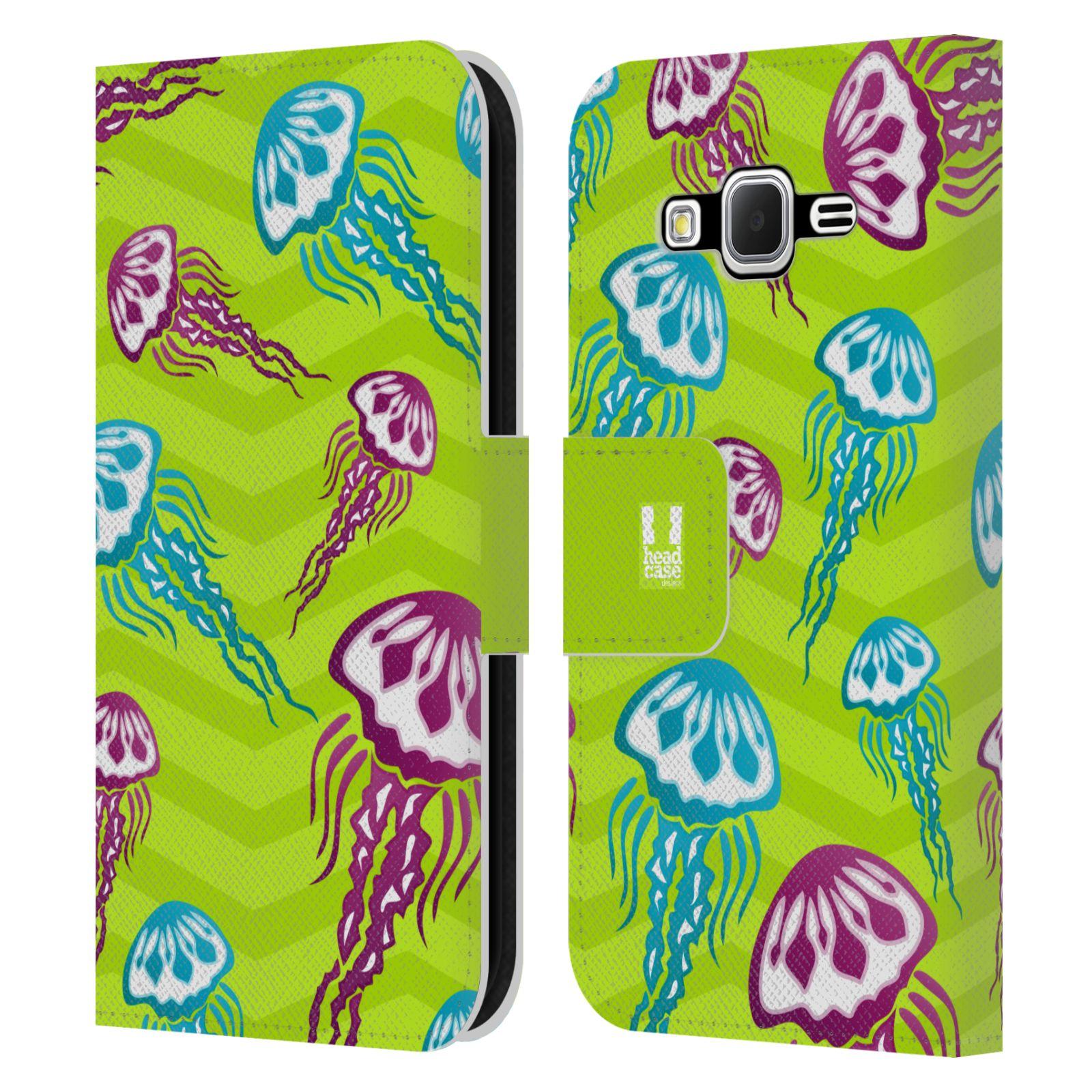 HEAD CASE Flipové pouzdro pro mobil Samsung Galaxy CORE PRIME Mořský živočich medůza zelená barva