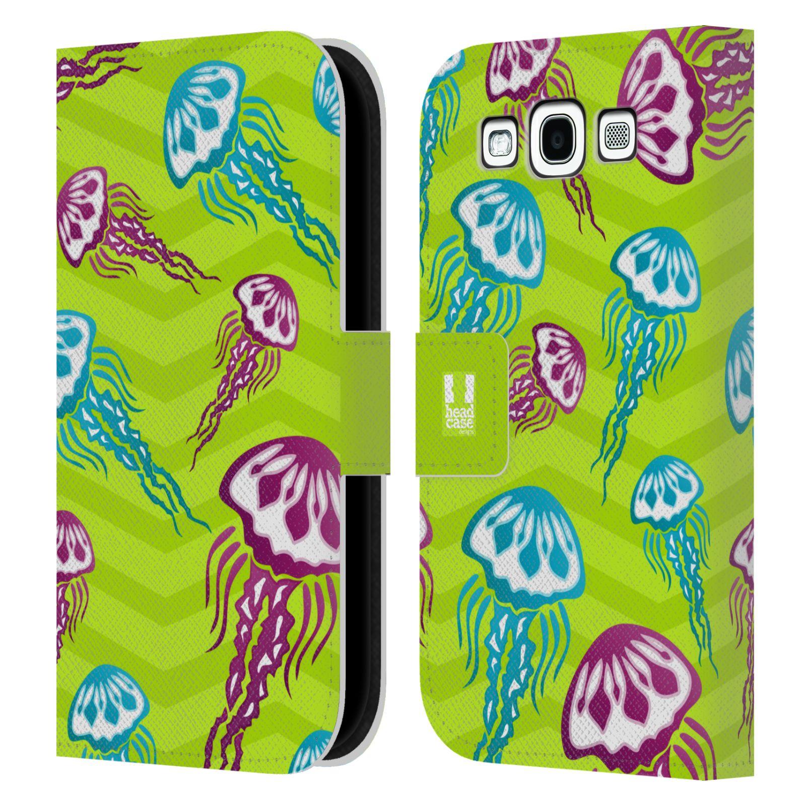 HEAD CASE Flipové pouzdro pro mobil Samsung Galaxy S3 Mořský živočich medůza zelená barva