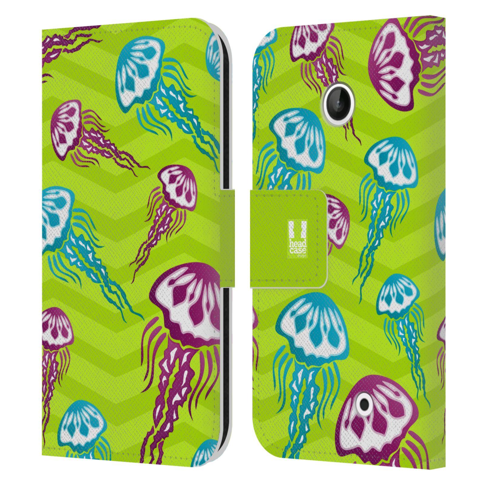 HEAD CASE Flipové pouzdro pro mobil NOKIA LUMIA 630 / LUMIA 630 DUAL Mořský živočich medůza zelená barva