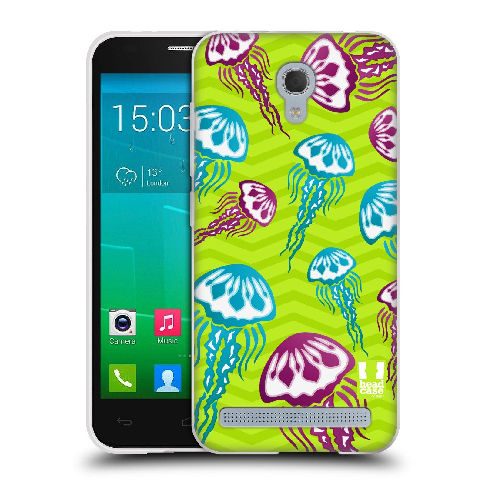 HEAD CASE silikonový obal na mobil Alcatel Idol 2 MINI S 6036Y vzor mořský živočich medůza