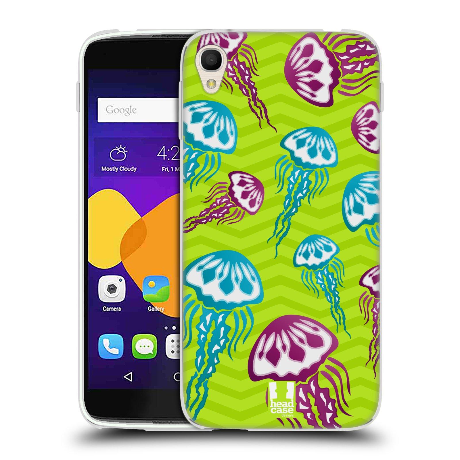 HEAD CASE silikonový obal na mobil Alcatel Idol 3 OT-6045Y (5.5) vzor mořský živočich medůza