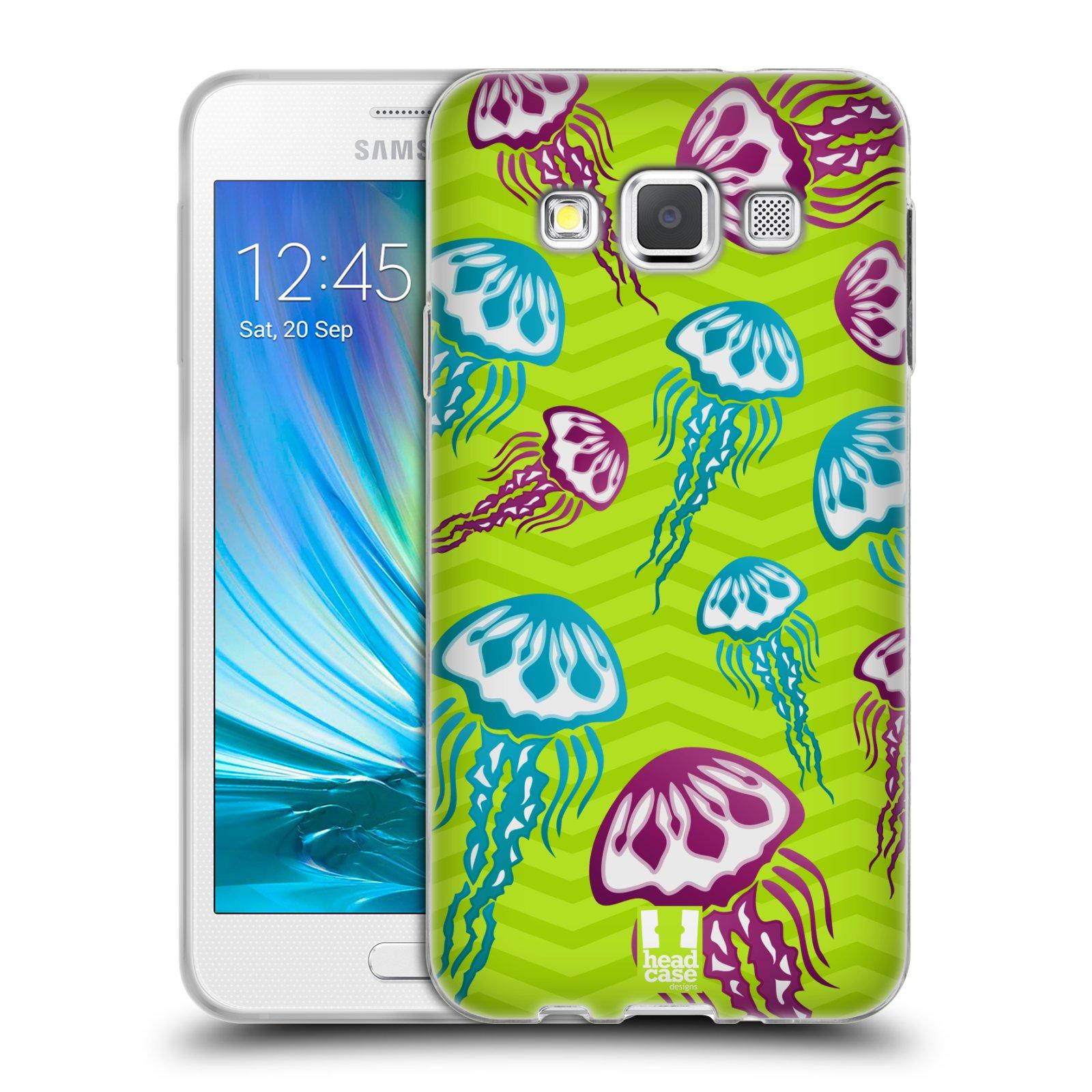 HEAD CASE silikonový obal na mobil Samsung Galaxy A3 vzor mořský živočich medůza