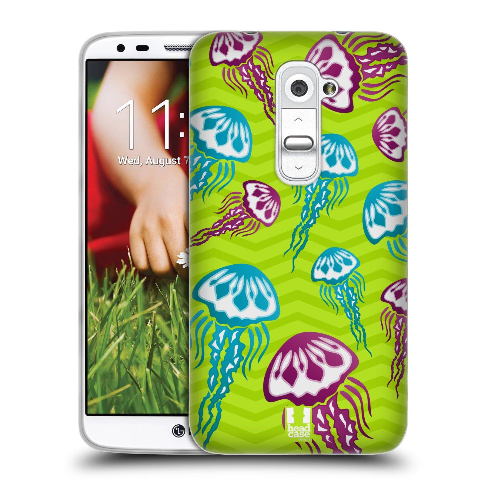 HEAD CASE silikonový obal na mobil LG G2 vzor mořský živočich medůza