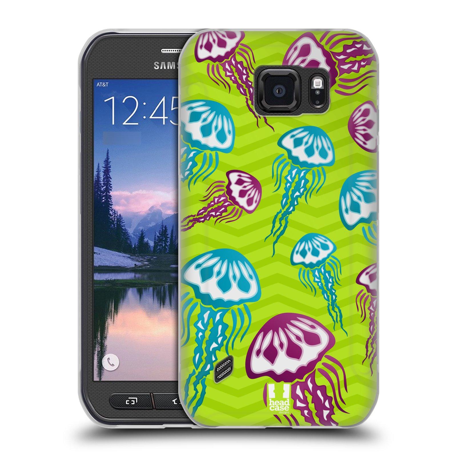HEAD CASE silikonový obal na mobil Samsung Galaxy S6 ACTIVE vzor mořský živočich medůza