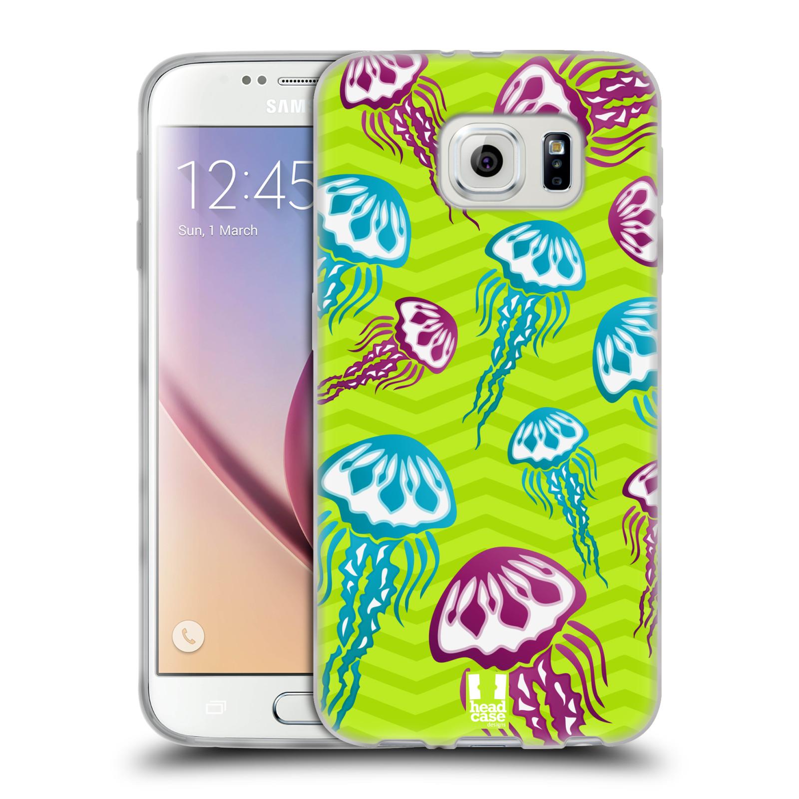 HEAD CASE silikonový obal na mobil Samsung Galaxy S6 vzor mořský živočich medůza