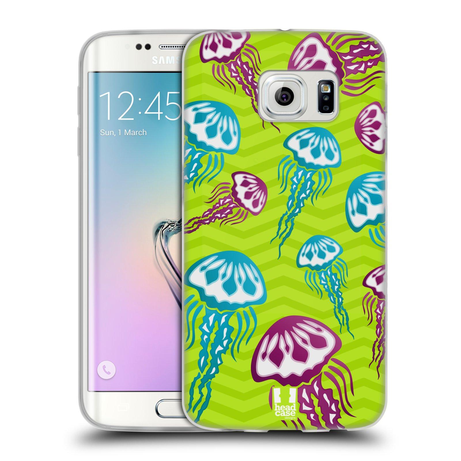 HEAD CASE silikonový obal na mobil Samsung Galaxy S6 EDGE vzor mořský živočich medůza